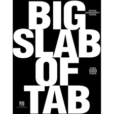 <font color=#262626>기타 타브악보 오선노트 - Big Slab of TAB (00210084)</font>