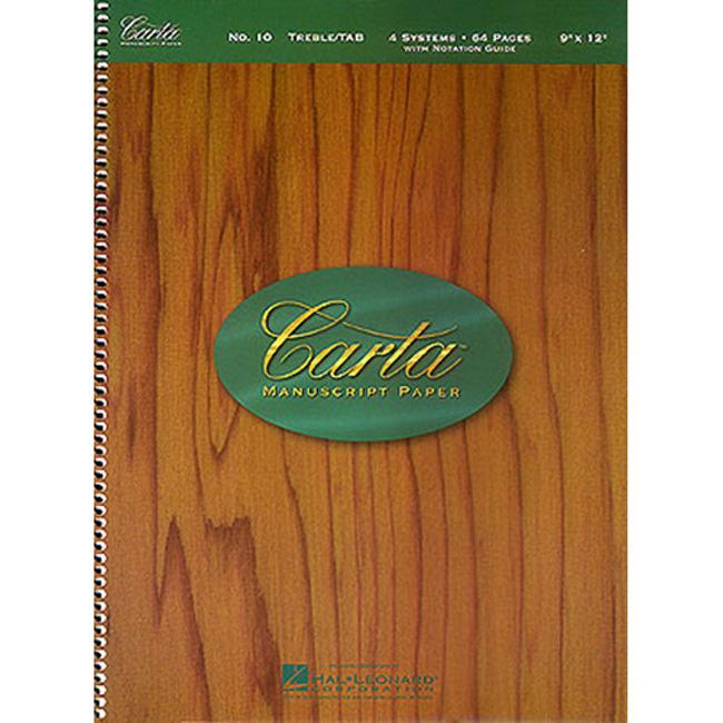 오선악보 + 기타 타브악보 스프링 오선노트 Carta No.10(00210054)