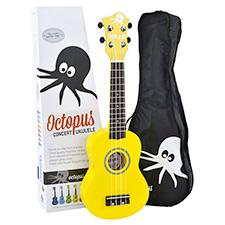 <font color=#262626>Octopus 콘서트 우쿨렐레 - Solid Yellow</font>