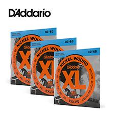 [공식수입정품 - 3팩 패키지]<br>Daddario - XL Nickel Regular Light / 일렉기타 스트링 010-046 3세트 (EXL110)