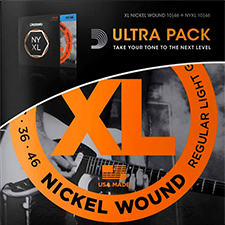 [공식수입정품]<br>Daddario - Electric Ultra Pack / 일렉기타 스트링 2팩 010-046 (EXL110+NYXL1046)