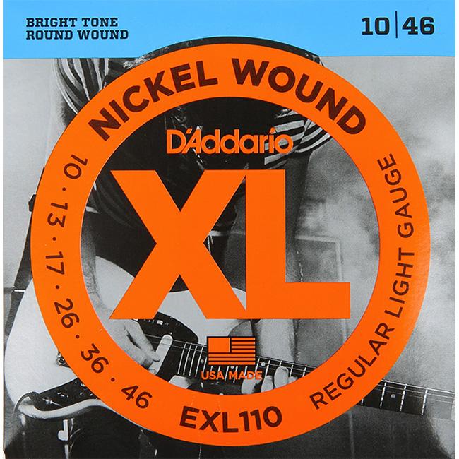 Daddario EXL110 (010-046) 다다리오 일렉기타줄 니켈