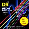 [2세트 Pack] DR NEON MC 09-42 EP HiDef Multi Color 일렉기타줄 (009-042) Extra 2Pack 잼스타 어플 연동