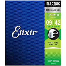 Elixir Electric OPTIWEB Super Light (009-042) /  엘릭서 옵티웹 일렉기타줄 [19002]