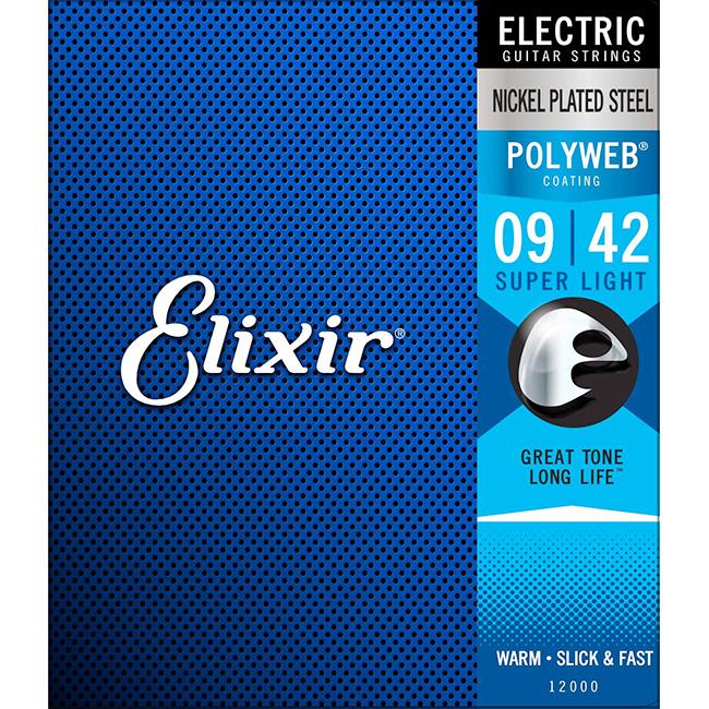 Elixir Electric POLYWEB Super Light (009-042) / 엘릭서 폴리웹 일렉기타줄 [12000]