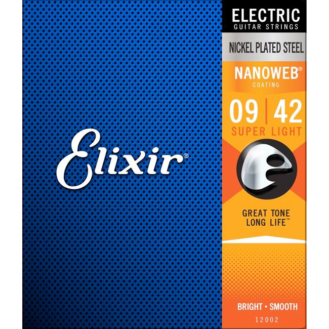 Elixir Electric NANOWEB Super Light (009-042) / 엘릭서 나노웹 일렉기타줄 [12002]