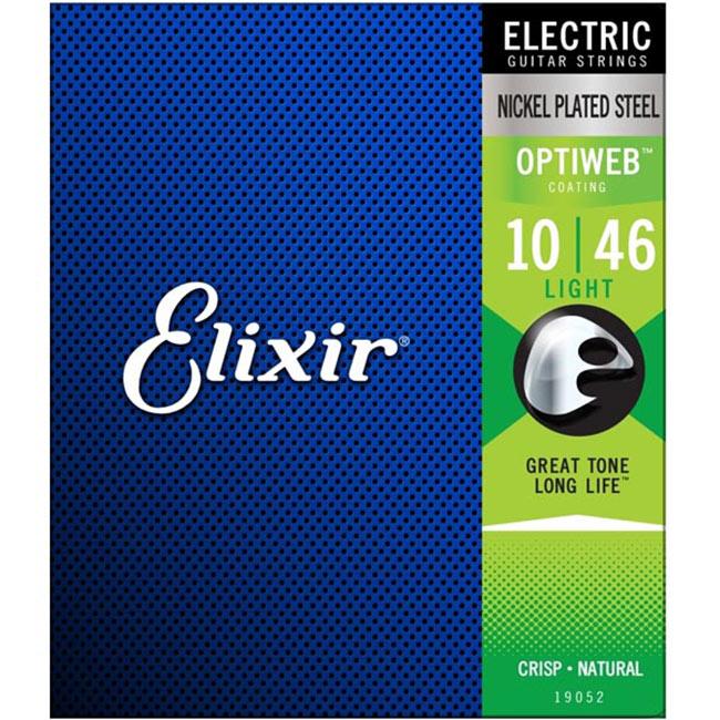 [공식수입정품]<br>Elixir Electric OPTIWEB Light (010-046) / 엘릭서 옵티웹 일렉기타줄 [19052]