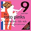 [2+1스트랩증정]RotoSound ROTO PINKS / 1번줄이 하나 더 - 로토사운드 일렉기타 스트링 009-042 (R9)