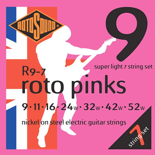 RotoSound ROTO PINKS 7-ST / 로토사운드 7현 일렉기타 스트링 009-052 (R9-7)