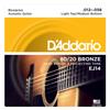 Daddario EJ14 80/20 Bronze Acoustic Guitar Strings Light Top/Medium Bottom/Bluegrass (012-056)