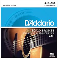 [공식수입정품]<br>Daddario - 80/20 Bronze Regular Light / 어쿠스틱 스트링 012-053 (EJ11)