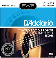 Daddario - EXP Coated 80/20 Bronze Regular Light / 어쿠스틱 스트링 012-053 (EXP11)