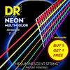 DR NEON NMCA-11-50 EP HiDef Multi Color 통기타줄 (011-050) Extra-Pack 잼스타 어플 연동