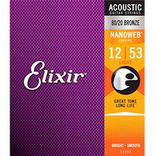 Elixir Acoustic NANOWEB Light (012-053) 엘릭서 나노웹 통기타줄 [11052]