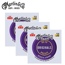[공식수입정품 - 3팩 패키지]<br>Martin - M140 Original / 마틴 어쿠스틱 스트링 3세트 (012-054)