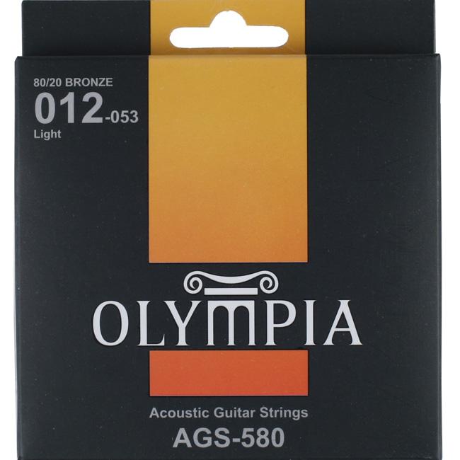Olympia AGS580 Bronze80/20 어쿠스틱기타스트링 (012-053)