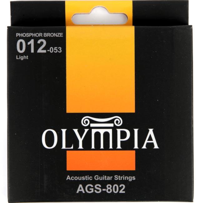 Olympia AGS802 Phosphor Bronze 어쿠스틱줄 세트(012-053)
