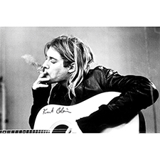 <font color=#262626>커트 코베인 포스터+액자<br>Kurt Cobain - Smoking [LP1151F]</font>