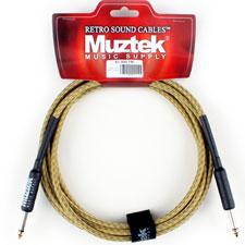 <font color=#262626>Muztek Retro Sound 기타&베이스 트위드 케이블(RS300 TW) 3m</font>