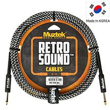 Muztek Retro Sound 기타&베이스 케이블(RS300 BS) 3m