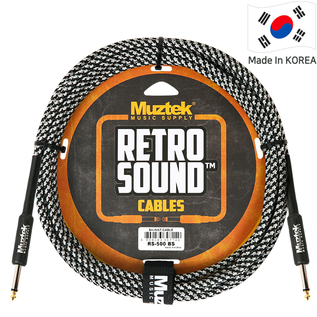 Muztek Retro Sound 기타&베이스 케이블(RS500 BS) 5m