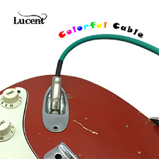 <font color=#262626>[루센트 케이블 1+1] Lucent Color Series 기타&베이스 케이블 GREEN - 6m</font>