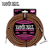 Ernie Ball BRAIDED 기타 & 베이스 케이블 / 7.6m 블랙 & 오렌지 (PO6064)