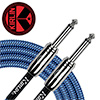 Kirlin Entry Woven Instrument Cable 3m<br>(IWCC-201PN/BLA)