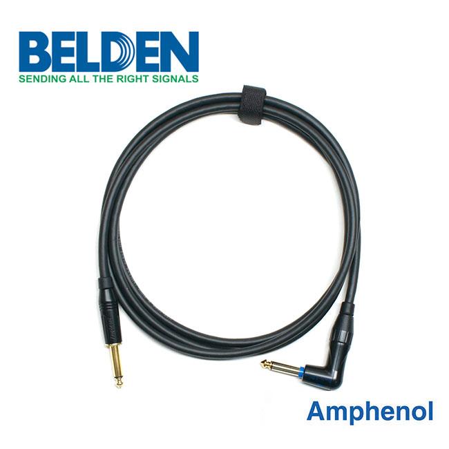 [Custom Cable]<br>Belden 50974 & Amphenol 사일런트<br>커스텀 기타 케이블 1m / Right Angle (BA-74SR01)