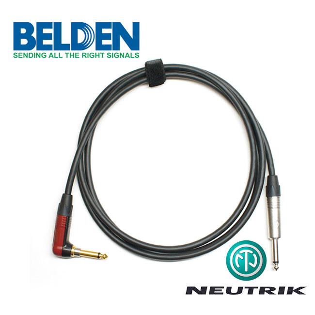 [Custom Cable]<br>Belden 50974 & Neutrik 사일런트<br>커스텀 기타 케이블 1m / Right Angle (BN-74SR01)