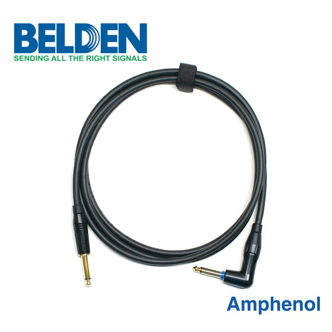 [Custom Cable]<br>Belden 50974 & Amphenol 사일런트<br>커스텀 기타 케이블 10m / Right Angle (BA-74SR10)
