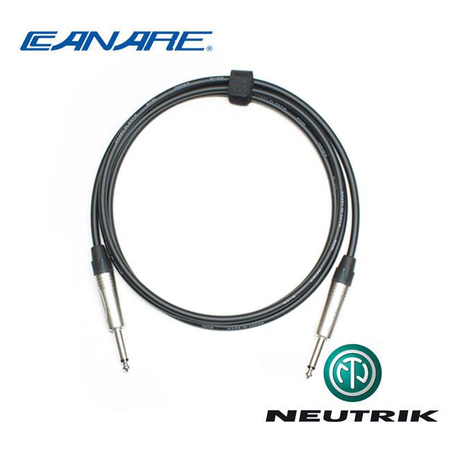 [Custom Cable]<br>Canare GS-6 & Neutrik<br>커스텀 기타 케이블 1m (CN6-TS01)