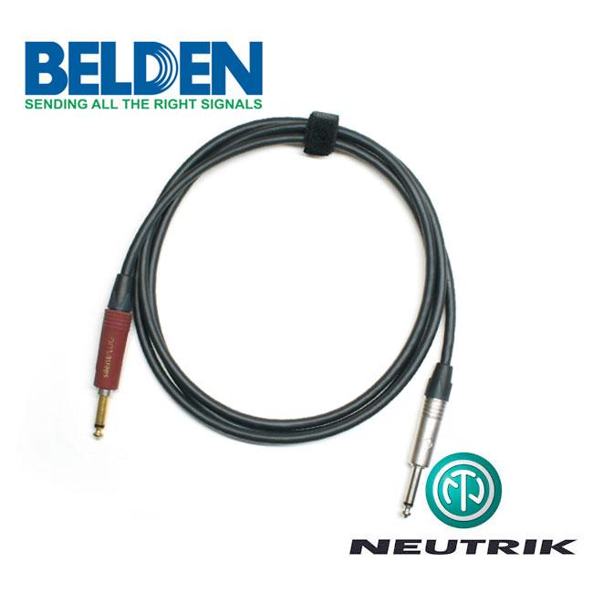 [Custom Cable]<br>Belden 50974 & Neutrik 사일런트<br>커스텀 기타 케이블 1m (BN-74S01)