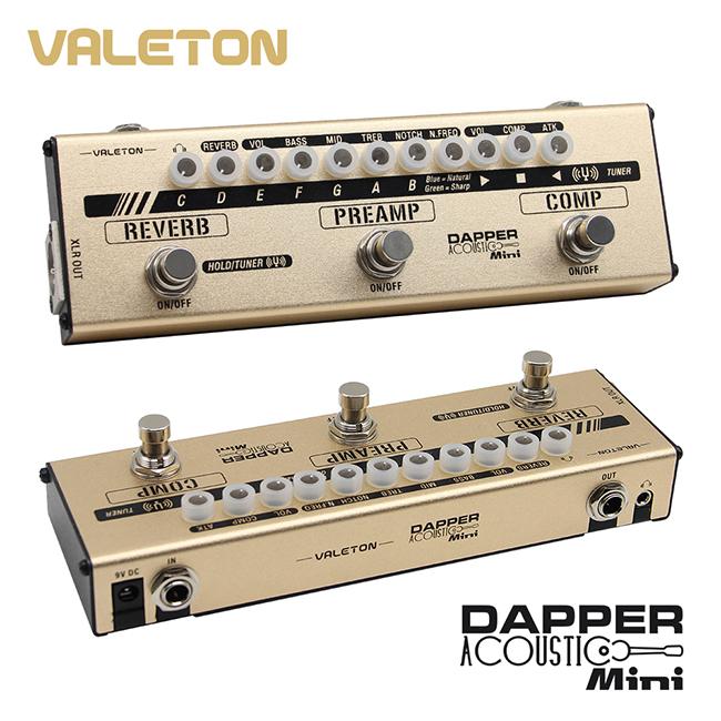Valeton Dapper Acoustic Mini (MES-4) 4 in 1 Mini Effects Strip(통기타용 4가지 이펙터가 하나에!)