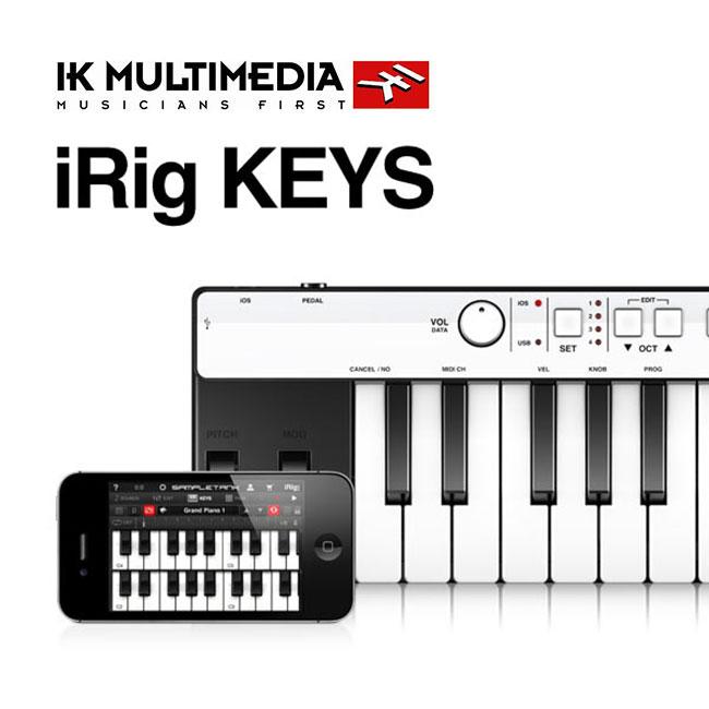 [For 아이폰, 아이패드, Mac]IK Multimedia iRig Keys 37 건반 유니버셜 미니 키보드 컨트롤러