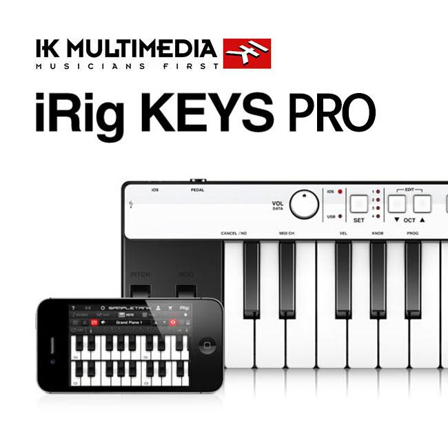 [For 아이폰, 아이패드, Mac]IK Multimedia iRig Keys PRO 37 건반 유니버셜 미니 키보드 컨트롤러