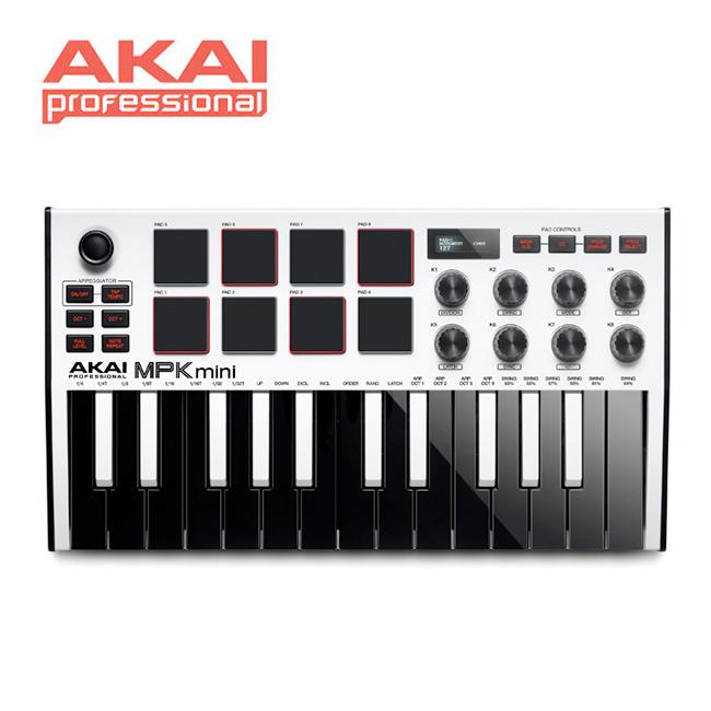 [아카데미 페스티벌 할인전]<br>AKAI - MPK mini MK3 / 아카이 마스터키보드 & 미디 컨트롤러 (White)