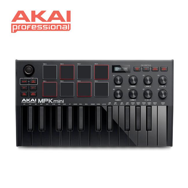 [아카데미 페스티벌 할인전]<br>AKAI - MPK mini MK3  / 아카이 마스터키보드 & 미디 컨트롤러 (Black)