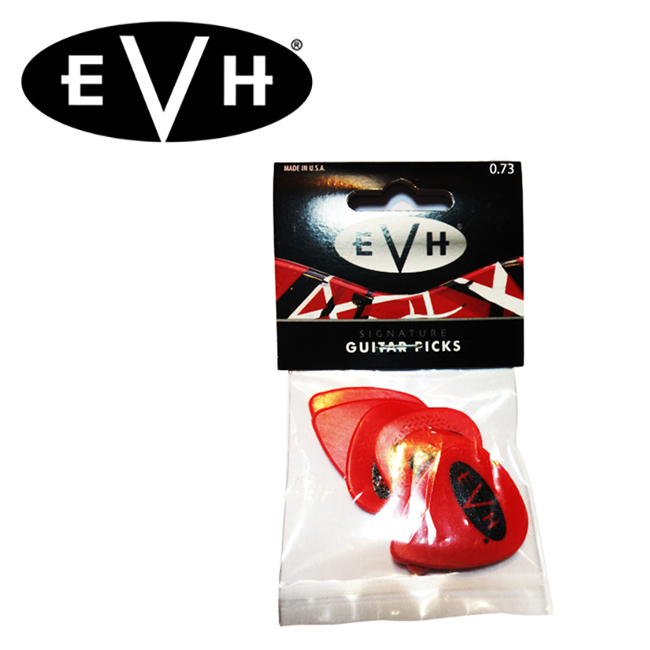 EVH 반헤일런 시그니처 피크 / Red & Black (0.73mm)