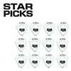 EVERLY STAR PICKS 351 BLISTER PACKS / 351타입 0.73mm WHITE (3443)