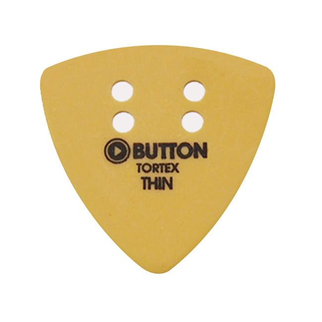 Button Tortex Triangle Yellow Thin 피크