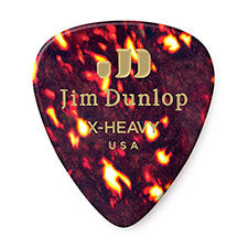 <font color=#262626>Dunlop Celluloid Guitar Pick - Extra Heavy (483R05XH)</font>