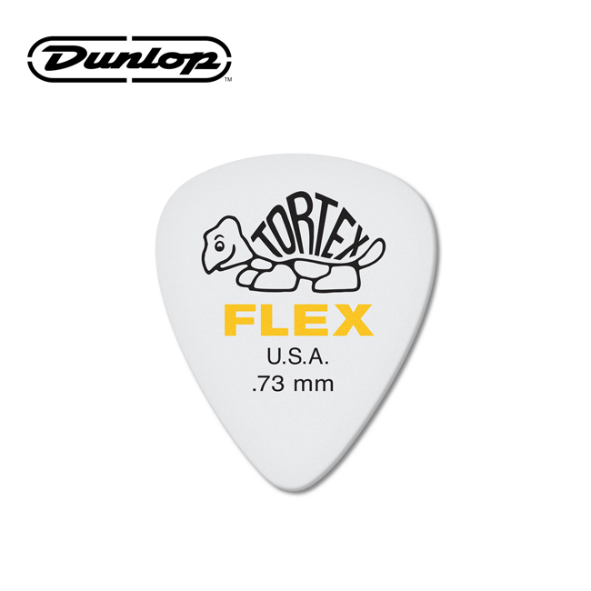 Dunlop TORTEX® FLEX™ Standard Guitar Pick - 0.73mm (428R.73)
