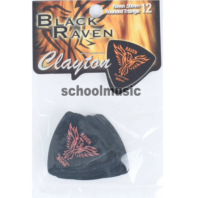 Clayton Black Raven Rounded Triangle 0.5mm 12개(BRT50/12)