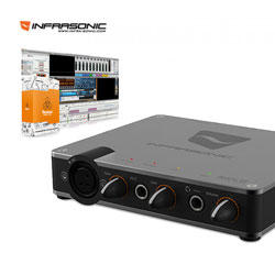 <font color=#262626>Infrasonic 인프라소닉 AMON SE 2in/2out USB 오디오 인터페이스 AMON SE 팬텀파워/스테레오 믹스/아프리카TV 지원/Reason Essentials(DAW)번들 포함/ 레코딩무료강좌</font>