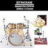 Gretsch USA Custom + Zildjian A Custom / 드럼+심벌세트 패키지 ( VOB / 22인치)