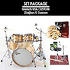 Gretsch USA Custom + Zildjian K Custom / 드럼+심벌세트 패키지 ( VOB / 22인치)