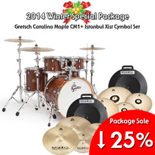 <font color=#262626>Gretsch New Catalina Maple CM1 + Istanbul Xist Cymbal Set Package </font>